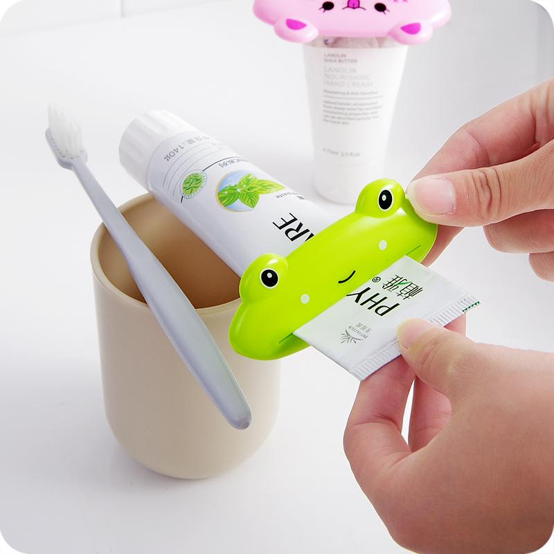 可爱卡通手动挤牙膏器卫生间洗面奶牙膏挤压器创意儿童牙膏夹