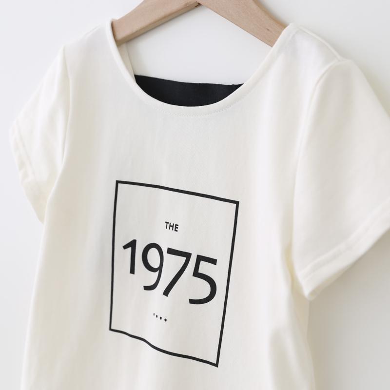 女童T恤 杨梅2018夏季新款数字印花短袖上衣 棉质百搭圆领T恤衫