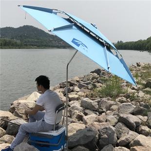 小鱼儿钓鱼伞2米2.2米双层万向防雨钓伞钓鱼雨伞遮阳伞垂钓太阳伞