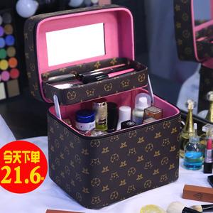 化妆包女便携大容量ins风超火多功能化妆品收纳盒小号旅行箱手提