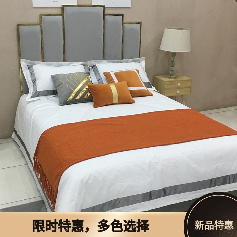 展厅样板间 家具配套床品 北欧美式 轻奢简约软装床品多件套 玉兰