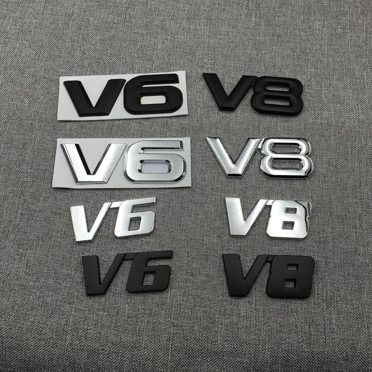 丰田新老锐志车标 V6后标 新老锐志 金属改装尾标 汉兰达改装V6标