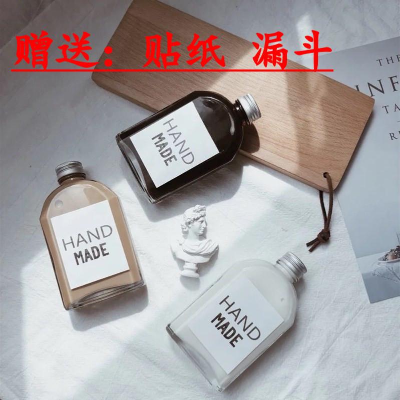 Sell 100ml net red drink milk tea coffee bottle brewed 22 flat Baijiu wine empty glass bottle