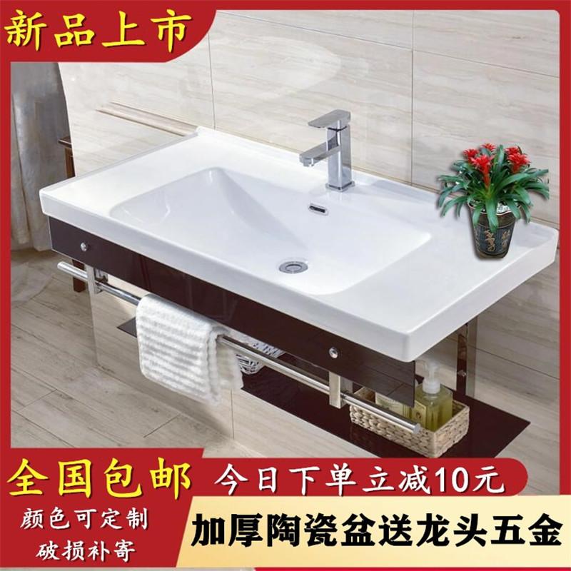 浴室に壁式の洗面器を掛けて、洗面器を洗って、洗面器を洗う。