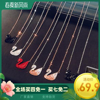 925女生日韩银饰品吊坠纯银项链
