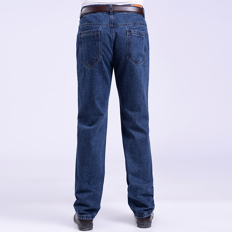 Middle aged jeans mens straight tube loose casual high waist mens 40-50 spring plus size daddys