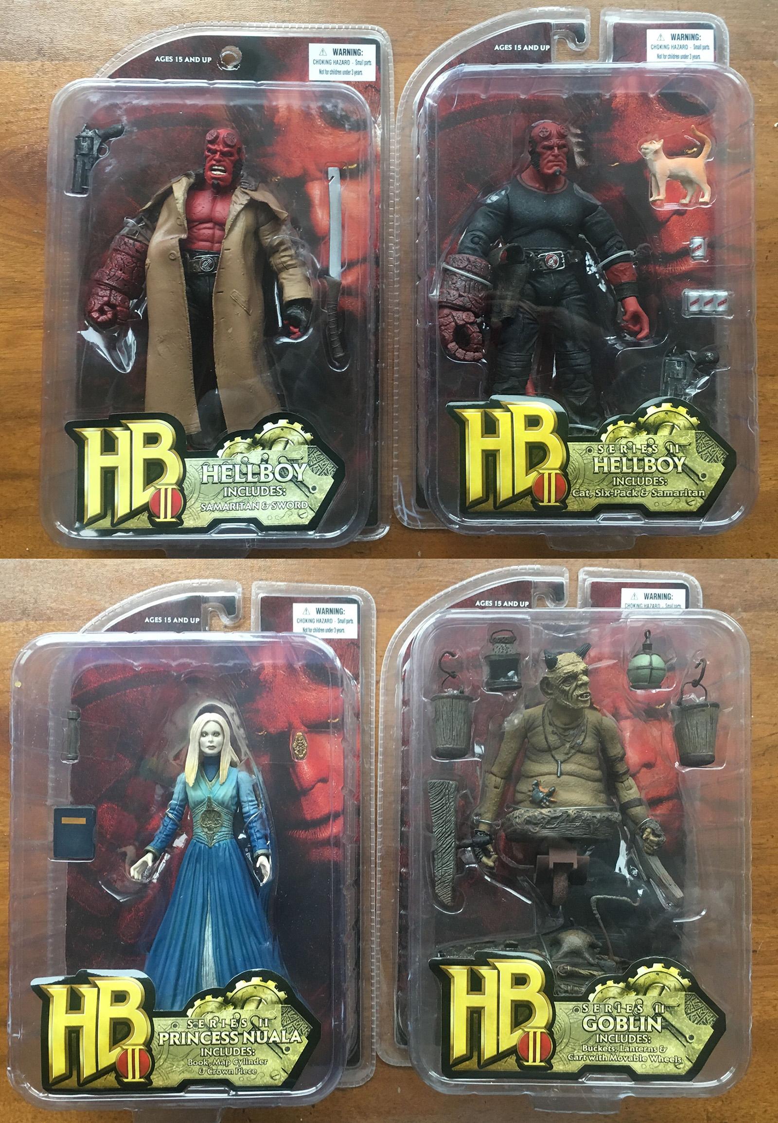 hellboy 地狱男爵 电影2代  仔玩偶可动人形 4个