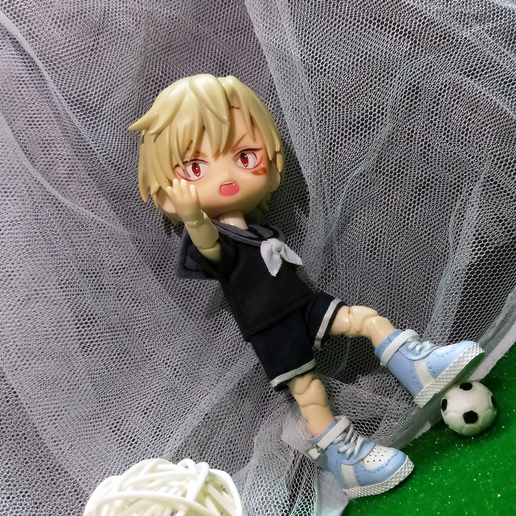 Ob11 children use basketball and football to simulate food and game props 12 points BJD GSC clay hand-made photo scene model