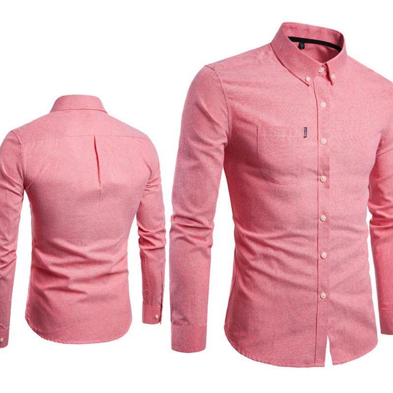 2018衬衫Men s Shirts Korean men slim long sleeve dress Shirt