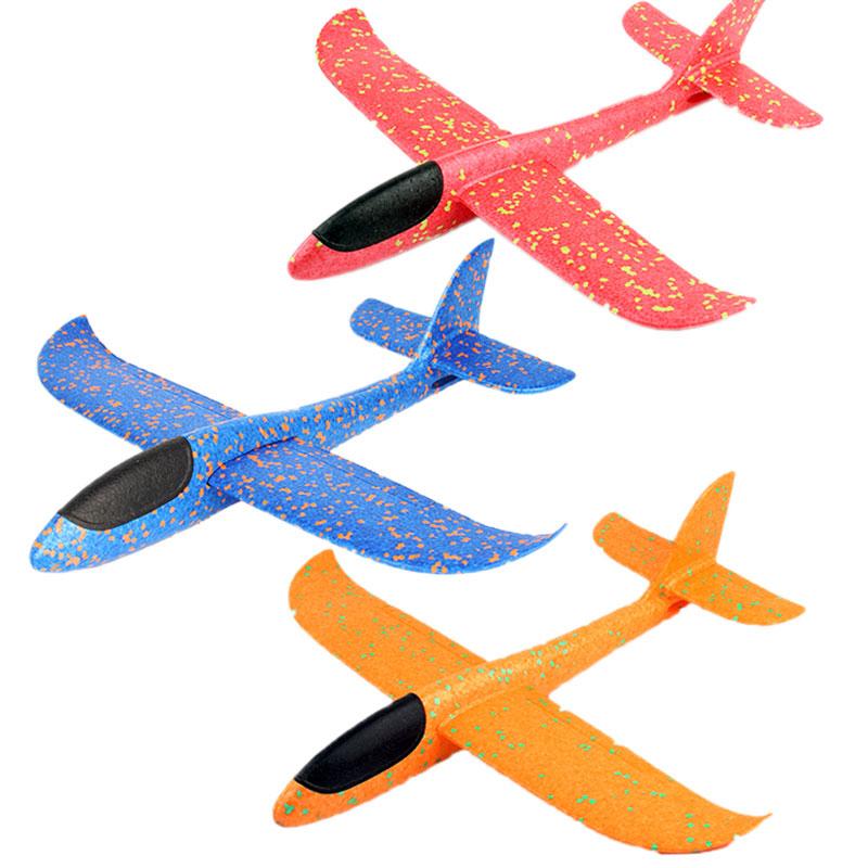 泡沫飞机手抛投掷滑翔飞机模型回旋航模耐摔儿童户外亲子运动玩具
