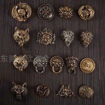 纯铜黄铜装饰扣手工diy狻猊财布扣