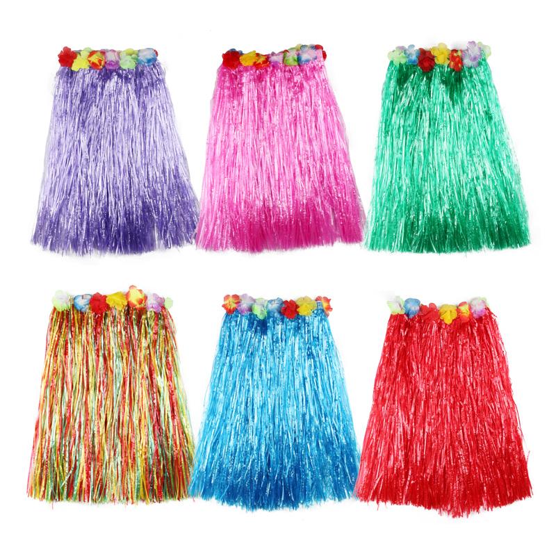 夏威夷草裙舞裙子儿童成人女演出服装幼儿园海草舞套装表演区道具