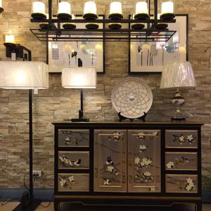 可定制现代新中式明清古典手绘花鸟玄关柜桌餐边柜样板间装饰边柜