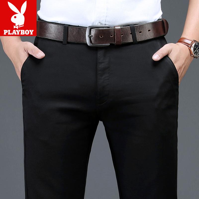 プレイボーイカジュアルパンツ男性ストレートがゆったりしています。秋冬のズボンは男性用です。