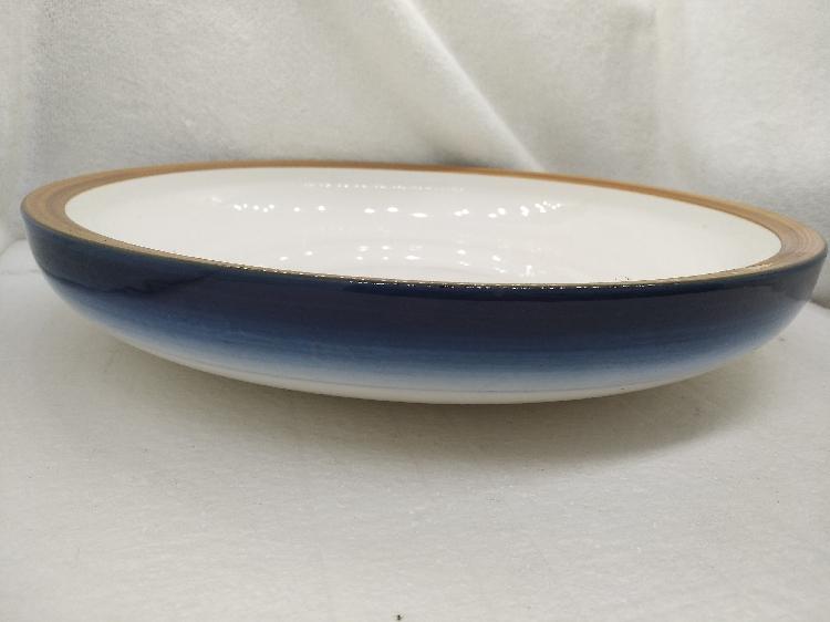 酒店饭店陶瓷厚边圆盘汤盘沙拉盘深菜盘创意海鲜盘子炒菜盘家用