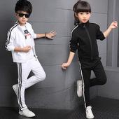 儿童装男女童运动服套装2020新款春秋装小学生班服纯棉校服两件套
