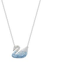 直邮施华洛世奇19年新款蓝色渐变天鹅项链女水晶锁骨链女礼物正品