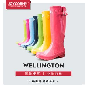 【35-38码】joycorn加可女高筒雨靴