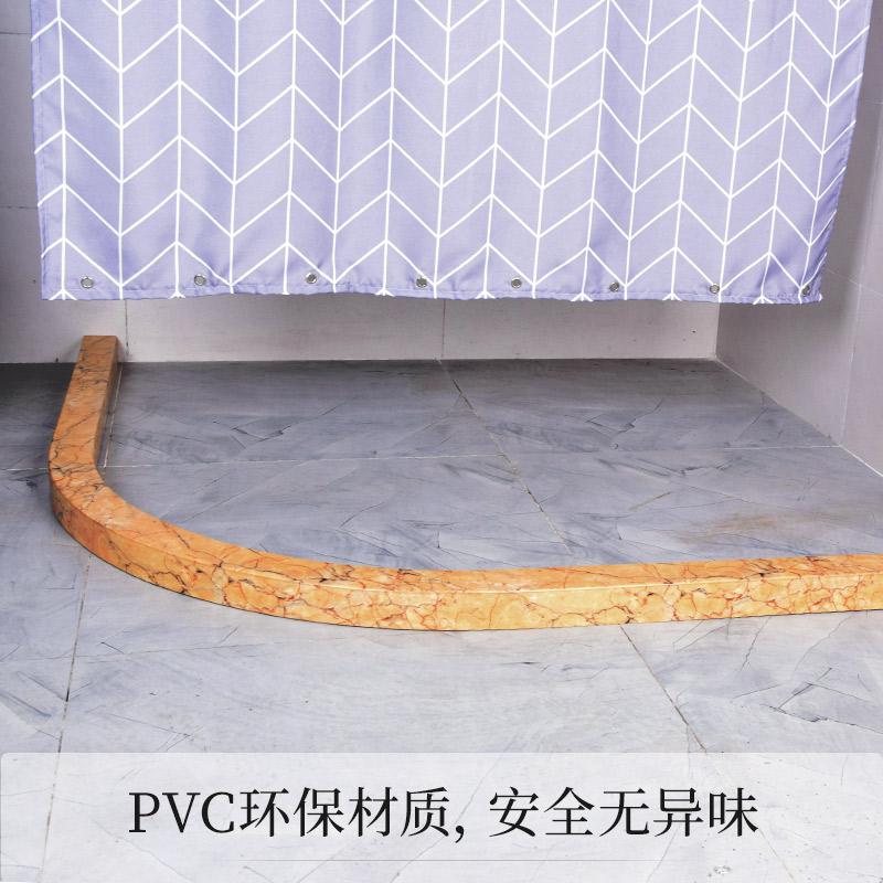 大理石浴室弧形挡水条订做卫生间淋浴房拦水条地面隔水条U形直杆