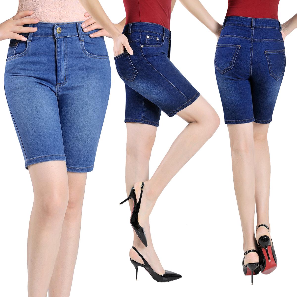 Летние стили старые ковбои пять средних лет дамы высокой талией шорты брюки 5 минут брюки джинсы МАМА