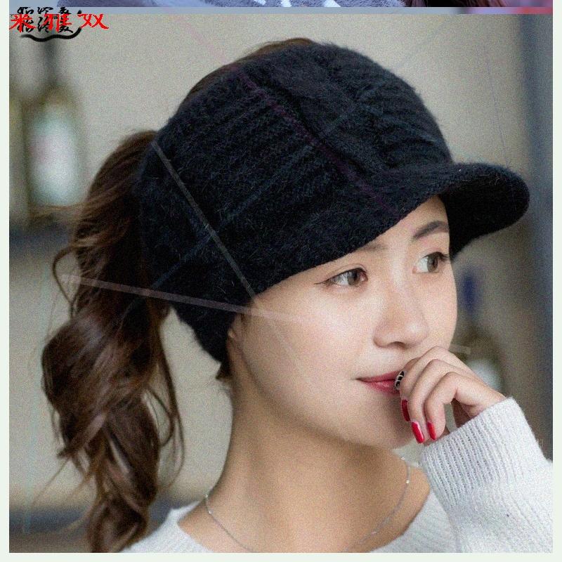 科派帽子女冬季加绒新款冬季空顶针织帽韩版时尚运动保暖帽0546