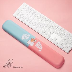 原創柯基記憶棉鍵盤手托護腕鼠標墊可愛舒適掌托腕托女生創意辦公