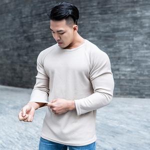 肌肉兄弟2019新款秋冬健身长袖运动毛衣男 加厚保暖休闲修身款