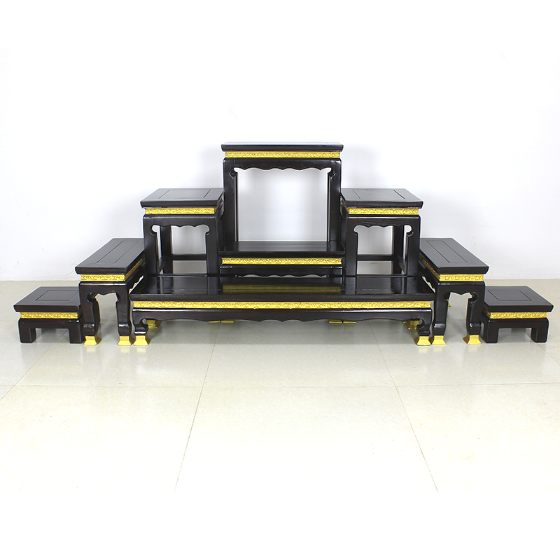 泰国供桌实木佛龛柜香火桌梯形佛牌