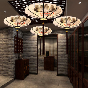 灯笼新中式中国风餐厅古风吊灯