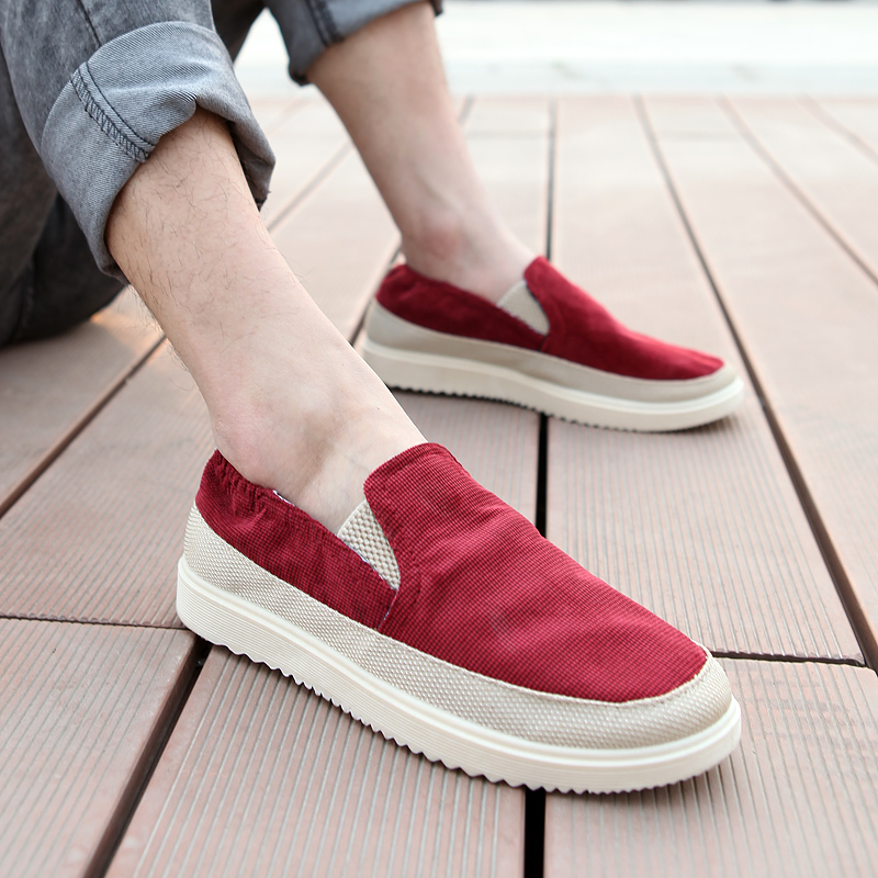 Spring and summer canvas shoes mens casual shoes Korean fashion shoes lazy mens shoes cloth shoes student board shoes low top mens shoes