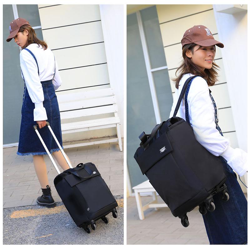新品拉杆背包双肩旅行包男女超轻旅行袋16寸20寸万向轮可拆登机箱