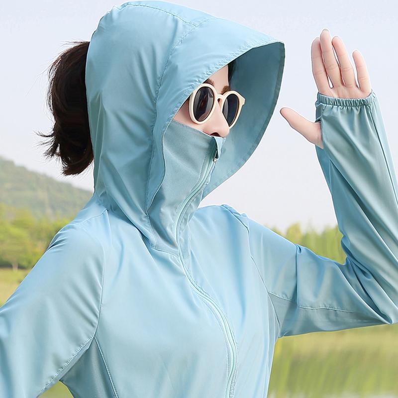 防晒衣女2018夏季新款中长款韩版防晒服薄款时尚外套大码潮防晒衫