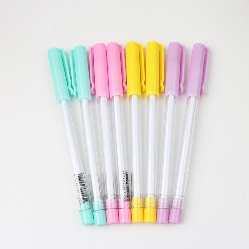韓國 可愛學生中性筆 黑色碳素水性筆辦公用品文具糖果色寫字