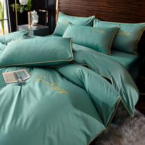 四件套全棉纯棉床上用品单双人春夏床单被套1.8m床单被套1.5米