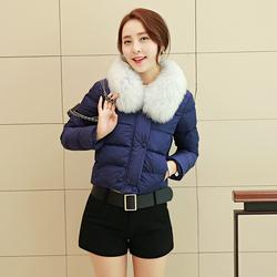 矮小个子秋冬小棉衣羽绒棉服女士超短款修身短外套收腰显瘦小棉袄