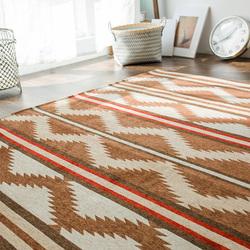 北欧地毯客厅茶几垫沙发简约现代家用地垫卧室床边毯美式几何满铺