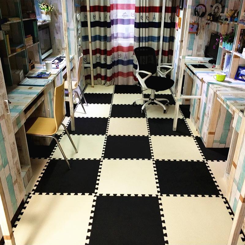 宿舍泡沫地垫婴儿爬行垫防水拼图卧室拼接地毯ins风榻榻米60防摔