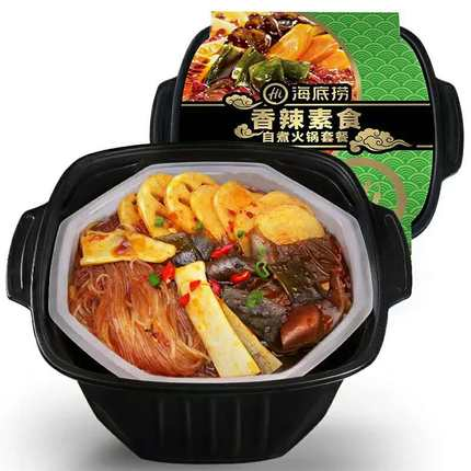 海底捞清油麻辣香辣素食方便速食即食懒人自煮小火锅400g包邮
