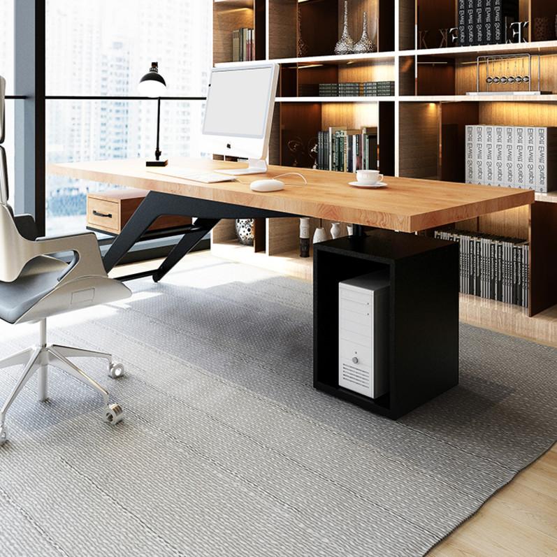 LOFT北欧実木社長テーブル総経理事務室シングル工業風コンピュータデスク
