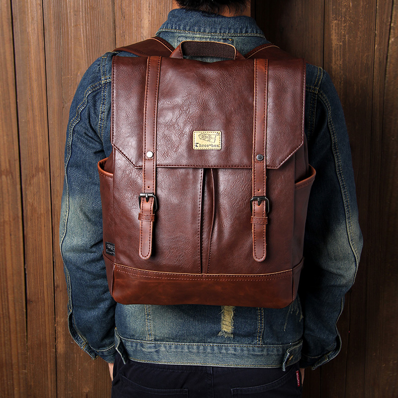 New backpack Europe and the United Kingdom retro fashion original backpack mens backpack student bag leisure fashion bag