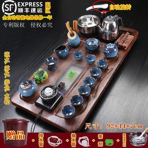 茶具套装家用一体式功夫紫砂陶瓷全自动四合一电磁炉茶道实木茶盘