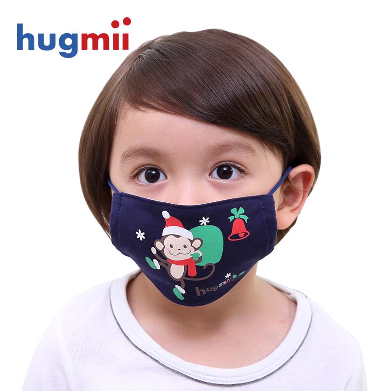 Hugmii ребенок маски хлопок на осень зима ребенок теплый мультики мальчиков и девочек, ребенок ветролом маски