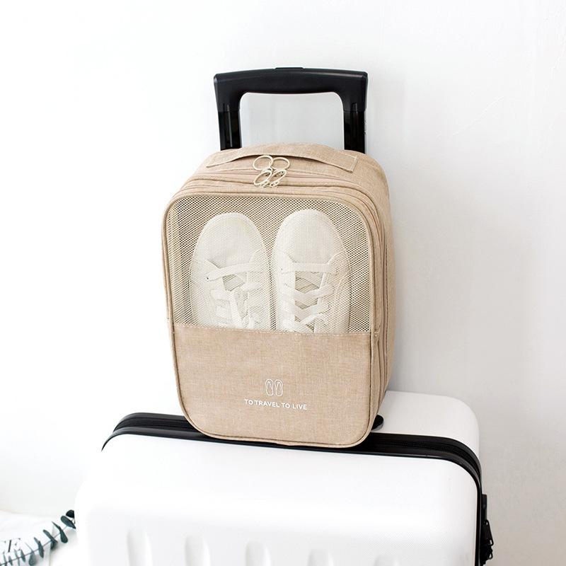便携鞋盒外出旅行鞋套行李箱鞋子收纳神器鞋包防尘袋鞋罩打包多双