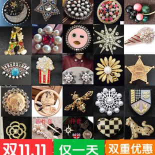 品牌女士饰品职业阿玛施特新款时尚胸针五角星红宝石太阳花珍珠花价格
