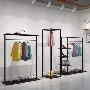 新房子服装店衣架展示架落地式男女装店陈列货架双层挂衣架中岛架