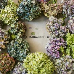 北欧日式天然插花搭配家居软装饰品艺术插花自然绣球干花配饰