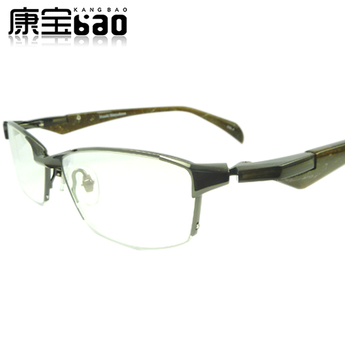 Glasses frame clearance Pure Titanium Mens business mens half frame glasses Matsushima Zhengshu mf-1139 with myopia