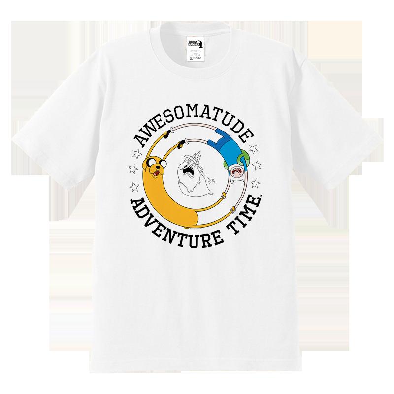 美式休闲 探险活宝 Adventure Time Tee 染色印花纯棉亲子短袖T恤