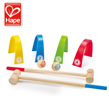 German Hape Children's Gateball Babies Intelligence Creative Wooden Outdoor Sports Games Children's Toys Aged 3 and Over