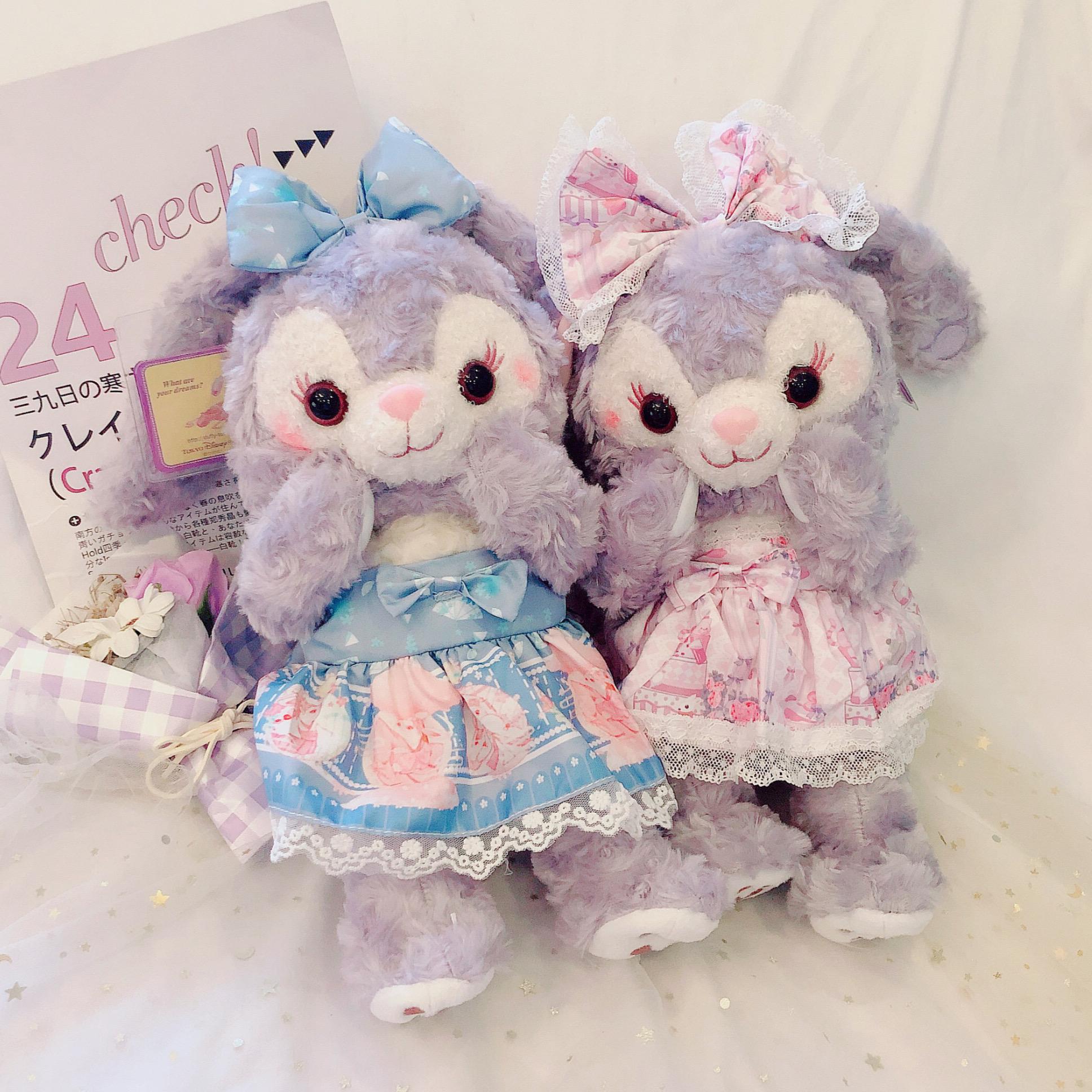 星黛露公仔骨架衣服款兔子毛绒玩具史黛拉兔迪士尼玩偶娃娃礼物女